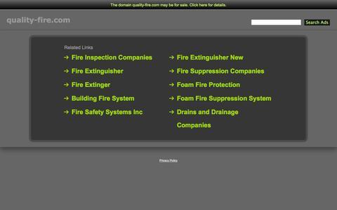 Screenshot of Home Page quality-fire.com - Quality-Fire.com - captured Oct. 3, 2014