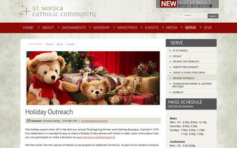 Screenshot of stmonica.net - Holiday Outreach - captured Dec. 5, 2017