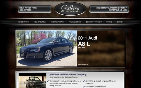 Screenshot of Home Page gallerymotorco.com - Gallery Motor Company | Dealer | Chesterfield, Missouri - captured Oct. 1, 2014