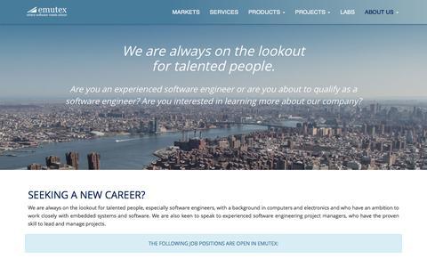 Screenshot of Jobs Page emutex.com - Emutex - Careers - captured Jan. 1, 2017