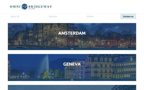 Screenshot of Contact Page omnibridgeway.com - Contact us - Omni Bridgeway - captured Nov. 26, 2017