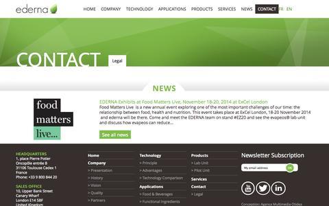 Screenshot of Terms Page ederna.com - Legal - ederna - captured Oct. 28, 2014