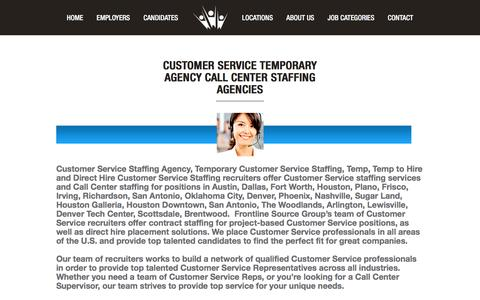 Screenshot of Support Page frontlinesourcegroup.com - Customer Service Temporary Agency | Frontline Source Group - captured Aug. 4, 2016