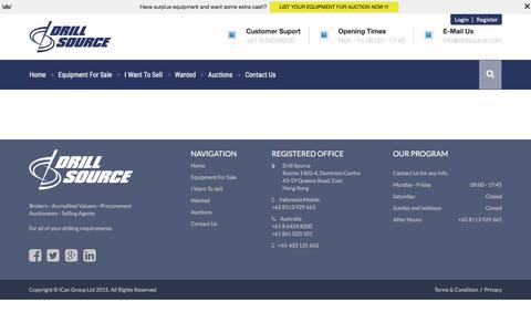 Screenshot of Privacy Page drillsource.com - Privacy   Drillsource - captured Jan. 7, 2016