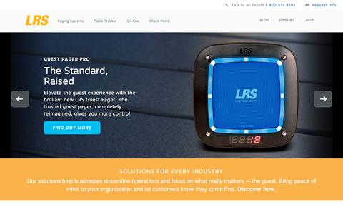 Screenshot of Home Page lrsus.com - LRS - Long Range Systems - Guest Paging - LRSus.com - captured Jan. 17, 2016