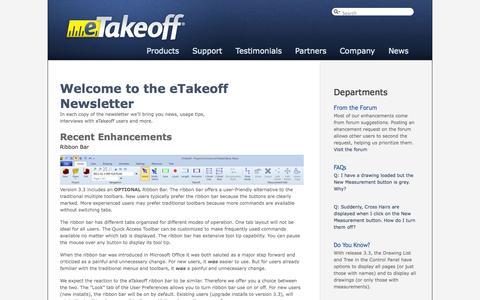 Screenshot of Press Page etakeoff.com - eTakeoff  » Blog Archive  Newsletter 2, 2013 » eTakeoff - captured Oct. 3, 2014