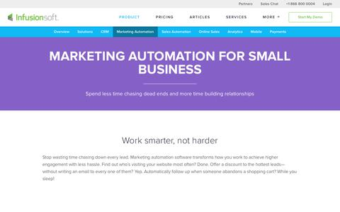 Small Business Marketing Automation Software | Infusionsoft