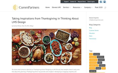 Screenshot of Case Studies Page commpartners.com - Taking Inspirations from Thanksgiving in Thinking About LMS Design | Webinars, Webcasts, LMS, eLearning Marketing Platform - captured Jan. 11, 2020