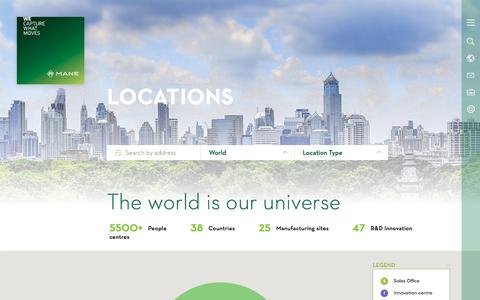 Screenshot of Locations Page mane.com - Locations | MANE - captured June 2, 2018