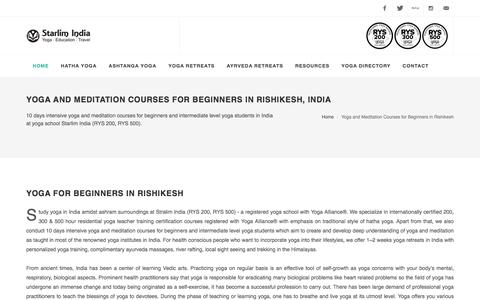 Yoga and Meditation Courses for Beginners in Rishikesh, India