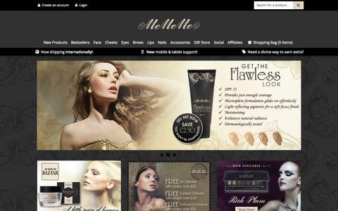Screenshot of Home Page mememecosmetics.com - MeMeMe Cosmetics Online Shop - captured Jan. 21, 2015