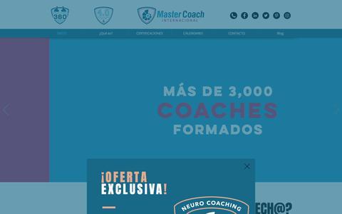 Screenshot of Home Page mastercoach.mx - Curso de Coaching | México | Master Coach Internacional - captured July 6, 2018