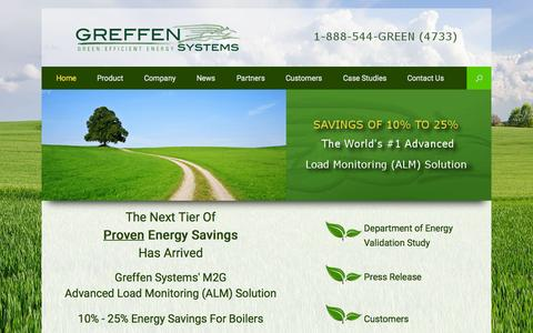 Screenshot of Home Page greffensys.com - Greffen Systems M2G Advanced Load Monitor - captured Sept. 16, 2015
