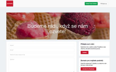 Screenshot of Contact Page zomato.com - Kontaktuj nás   Zomato - captured July 22, 2016
