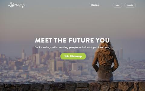 Screenshot of Home Page lifetramp.com - Lifetramp – Meet the Future You - captured Jan. 20, 2017