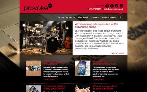 Screenshot of Blog provoke.me.uk - Marketing agency Cambridge – the best marketing consultancy – Blog - captured Oct. 3, 2014
