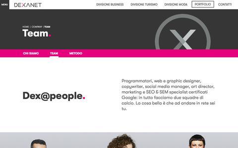 Screenshot of Team Page dexanet.com - Specialisti Web - Agenzia web development, web design, SEO & SEM - captured Oct. 9, 2018