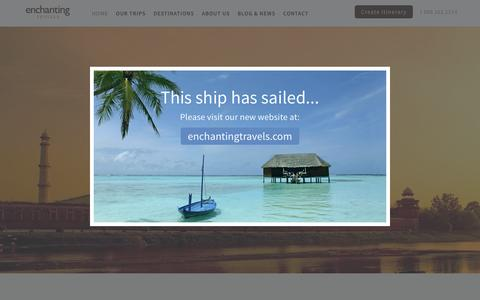 Screenshot of Home Page enchanting-travels.com - Private Tours to Asia, Africa, South America | Enchanting-Travels - captured Dec. 9, 2015