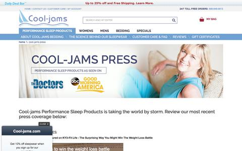 Screenshot of Press Page cool-jams.com - Cool-Jams Press - captured Sept. 24, 2018