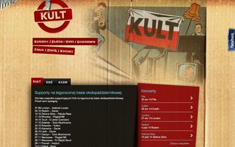 Screenshot of Home Page kult.art.pl - Kult - captured Sept. 22, 2014