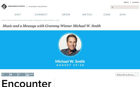 Screenshot of saddleback.com - Saddleback Church: Series: Music and a Message with Grammy Winner Michael W. Smith - captured Aug. 24, 2017