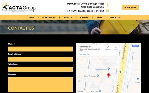 Screenshot of Contact Page actagroup.com.au - Contact Us | ACTAgroup - captured July 28, 2018