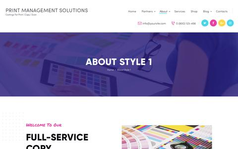 Screenshot of About Page print-management-solutions.com - About Style 1 - Print Management Solutions - captured Nov. 7, 2018