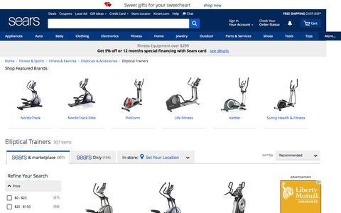 Elliptical Trainers - Sears