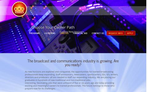 Screenshot of Jobs Page beonair.com - Broadcast and Multimedia Careers | Be On Air | Be On Air - captured Jan. 10, 2016