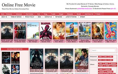 Screenshot of Home Page online-free-movie.com - free movies online and enjoy with your friends! - captured Feb. 20, 2016