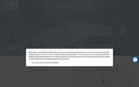 Screenshot of Contact Page aser.ro - Fii curios și contactează-ne  | ASER - captured July 28, 2018