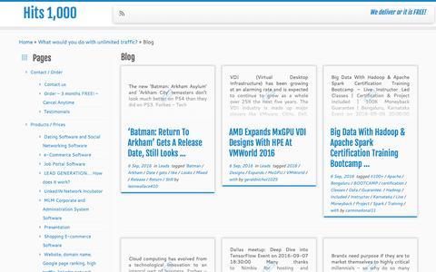 Blog | Hits 1,000
