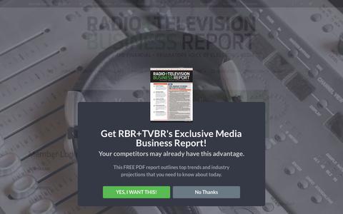 Screenshot of Login Page rbr.com - Member Login | Radio & Television Business Report - captured Sept. 22, 2018