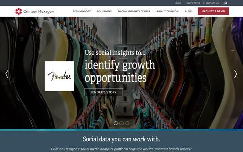 Screenshot of Home Page crimsonhexagon.com - Leading Social Media Analytics Company   Homepage   Crimson Hexagon - captured May 10, 2017