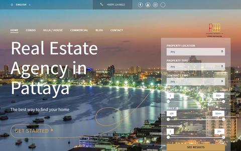 Screenshot of Home Page real-estate-pattaya.com - Real Estate Agency Pattaya | Luxury Real Estate Pattaya - captured Oct. 21, 2018