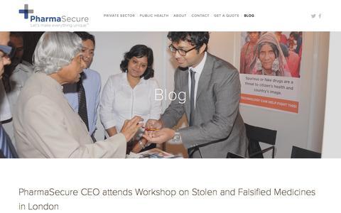 Screenshot of Blog pharmasecure.com - Blog — PharmaSecure - captured July 3, 2015