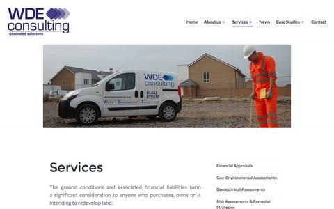 Screenshot of Services Page wdeconsulting.co.uk - Services – WDE Consulting - captured Dec. 20, 2016
