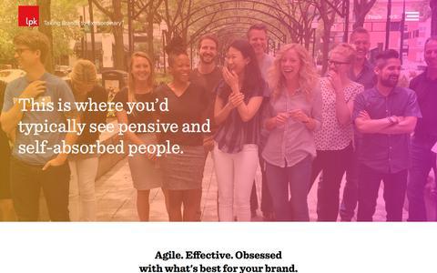 Screenshot of Team Page lpk.com - Design Is In Our DNA  |  LPK - captured May 12, 2017