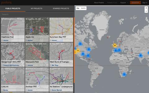Screenshot of Signup Page podaris.com - Podaris: Collaborative Infrastructure Planning - captured Nov. 9, 2016