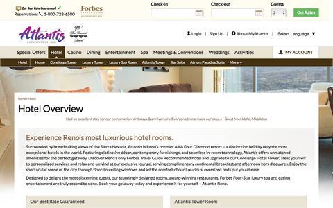 Screenshot of atlantiscasino.com - Reno Luxury Hotel | Rooms & Suites | Atlantis Casino Resort Spa - captured Aug. 24, 2016