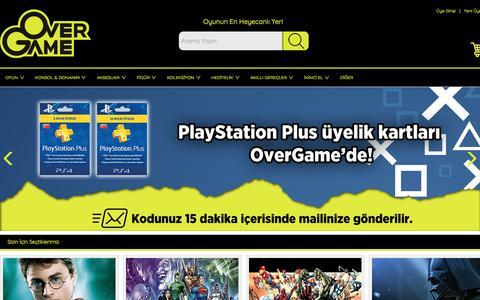 Screenshot of Home Page overgameweb.com - Over Game Web - captured Oct. 22, 2017