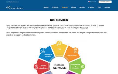 Screenshot of Services Page flucticiel.com - Services - captured Nov. 24, 2017