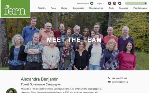Screenshot of Team Page fern.org - Team Members  | Fern - captured Nov. 14, 2018