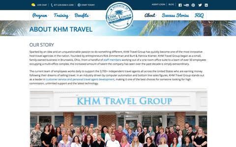 Screenshot of About Page khmtravel.com - KHM Travel Group | About our Host Travel Agency - captured Dec. 1, 2015