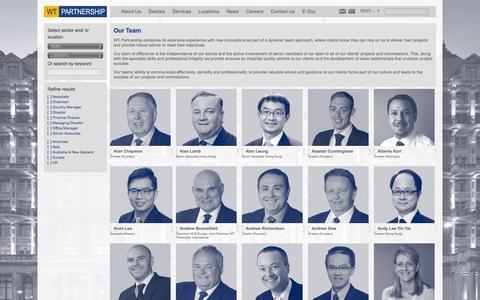 Screenshot of Team Page wtpartnership.com - Our Team - WT PartnershipWT Partnership - captured Oct. 7, 2014