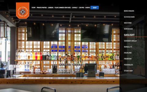 Screenshot of Home Page fourcornerstaverns.com - Four Corners Tavern Group - captured Feb. 10, 2016
