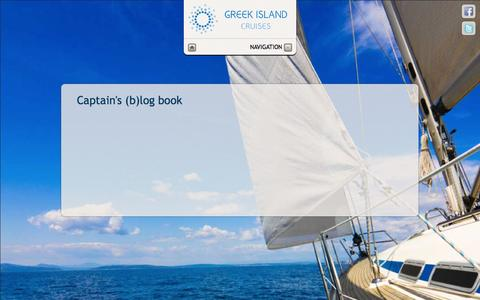 Screenshot of Blog greekislandcruises.eu - Greek Island Cruises - Captain's (b)log book - captured Sept. 30, 2014