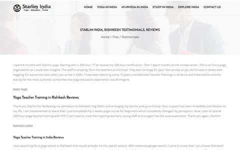 Starlim India, Rishikesh Testimonials, Reviews