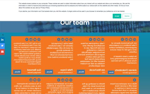 Screenshot of Team Page cakesolutions.net - Our Team - captured Sept. 26, 2018