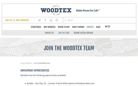 Screenshot of Signup Page woodtex.com - Join The Woodtex Team - Woodtex - captured Oct. 2, 2018